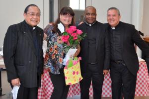 """""""cathy coolin and priests at reception"""""""