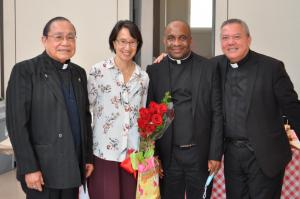 """""""maria ong and priests at reception"""""""